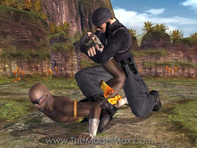 Maximillian as Zack in the video game Dead or Alive?
